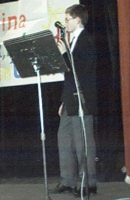 Karel Petržela při přednášce o webových kamerách
